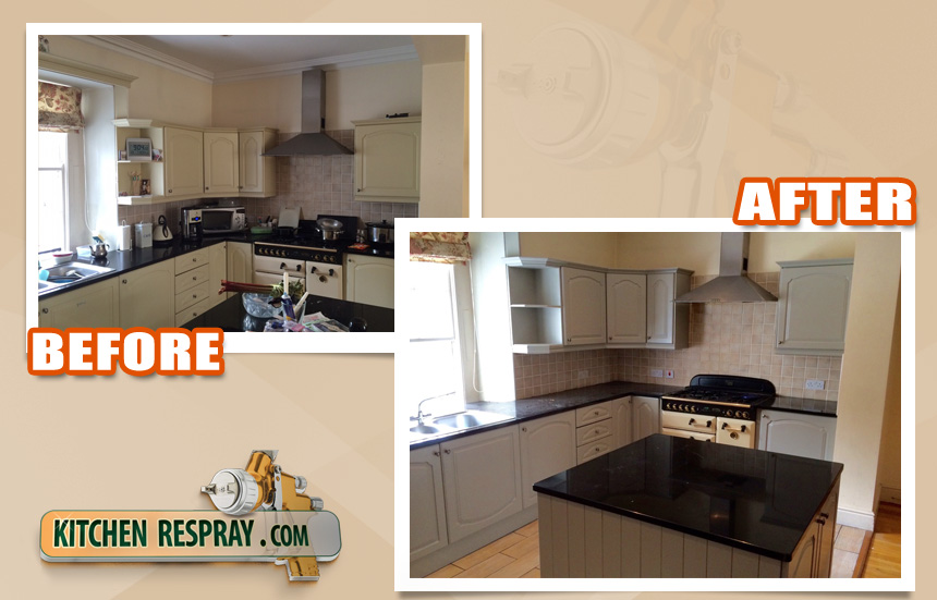 Kitchen Respray to manor house grey