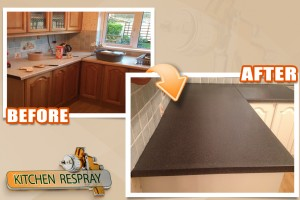 Kitchen countertop respray