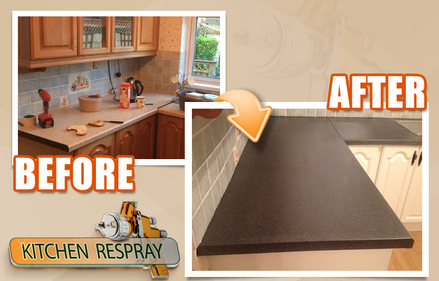 kitchen countertop respray in dublin -countertop refinishing