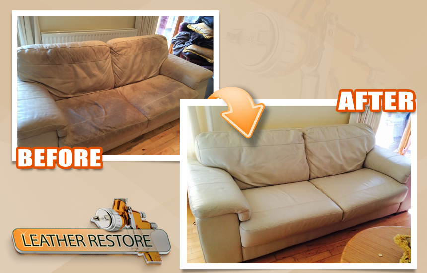 Professional Natuzzi Leather Restoration