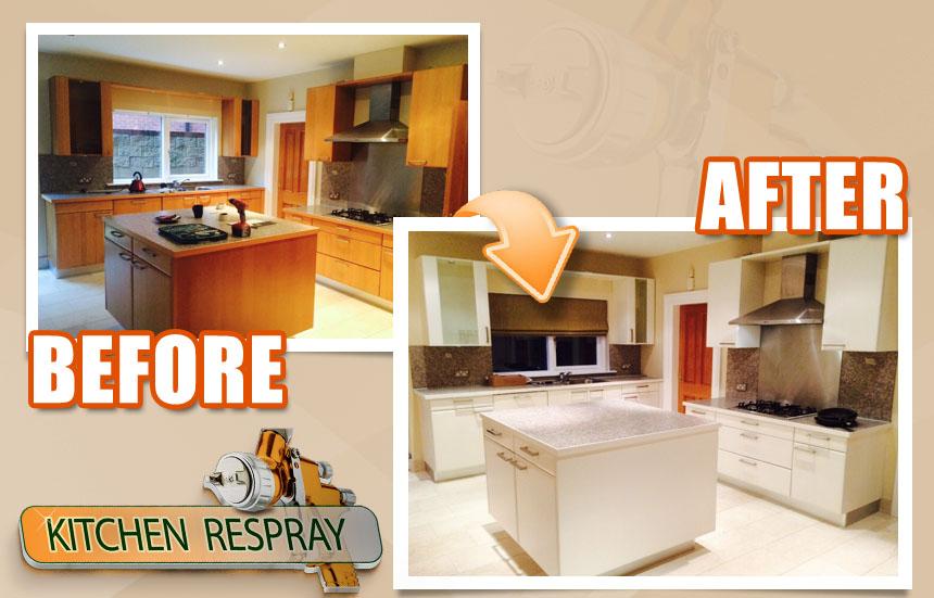 Kitchen Respray to cream