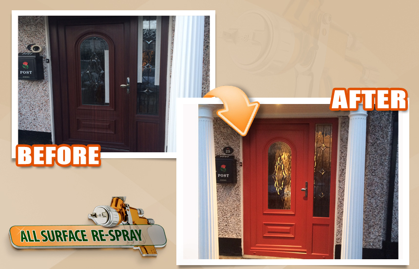 Paint your uPVC door to any colour. - All Surface Respray
